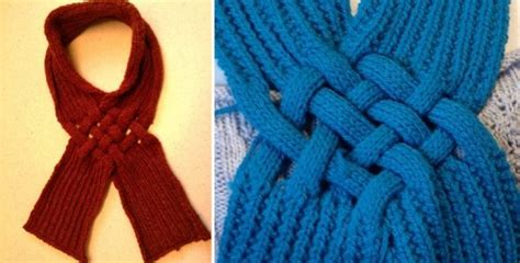 knitting pattern scarf loop celtic knot knitted looped scarf free knitting pattern