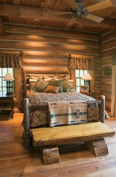 log cabin bed 45 cozy rustic bedroom design ideas digsdigs