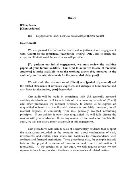 accounting firm engagement letter sample word