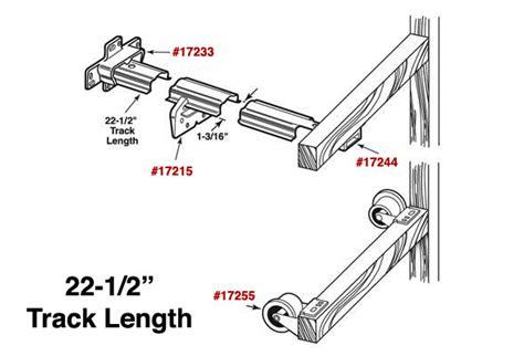 complete drawer track kit r7125 rolled edge drawer track kit 22 1 2 r 7125