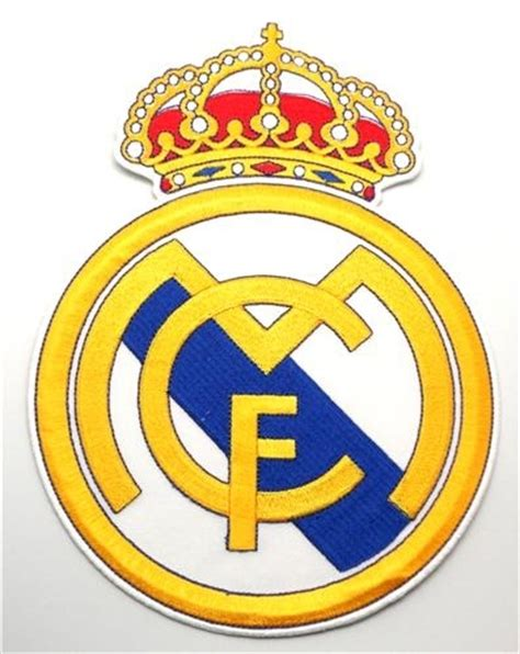 Logo Patch Woven Emblem Club Bola Real Madrid pin real madrid grb on