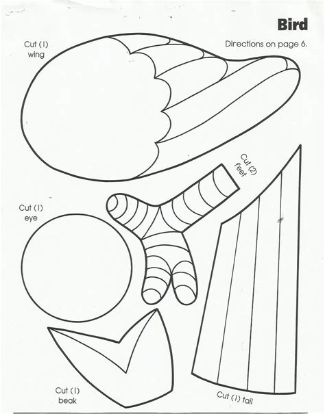 bird templates to cut out bird cut out template coloring home