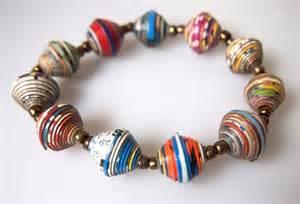How To Make Paper Bracelets - paper bead bracelets be the haiti