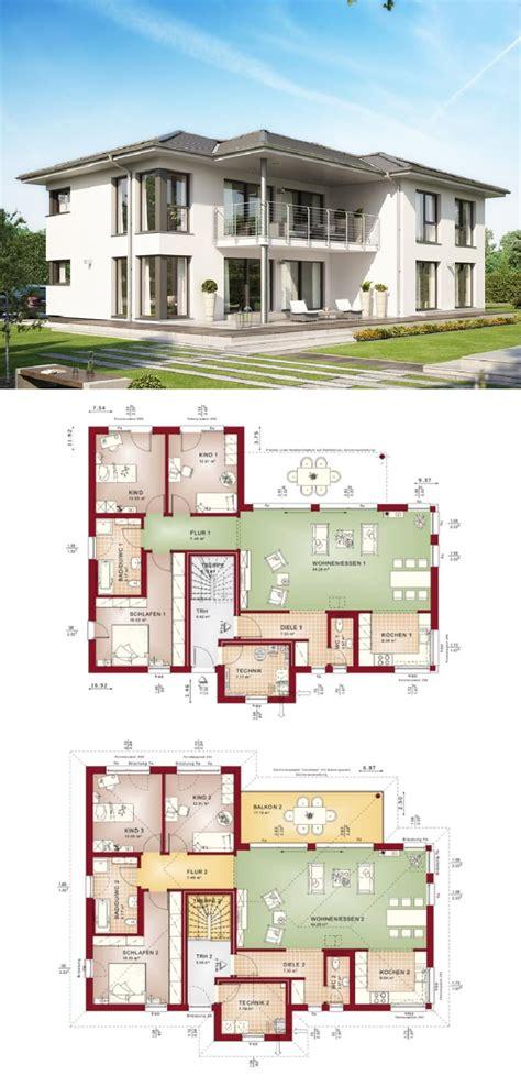 haus mit walmdach grundriss zweifamilienhaus mit einliegerwohnung grundriss haus