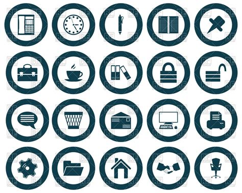 free royalty free clipart business and office web icons royalty free vector