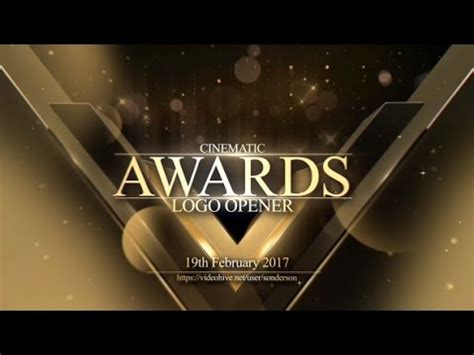 Awards Logo Opener After Effects Template Youtube After Effects Awards Template
