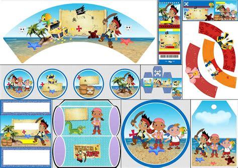 etiquetas imprimibles de jake y los piratas de nunca jake y los piratas kit para imprimir gratis ideas y