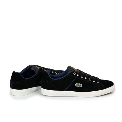 black mens sneakers lacoste romeau black yellow mens trainers sneakers shoes
