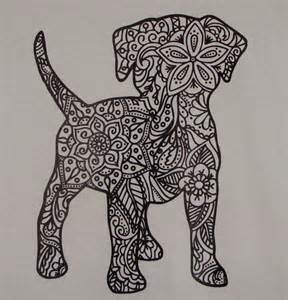 Tapestry Upholstery Fabric Dog Coloring Page Puppy Transfer Iron On Heat Press