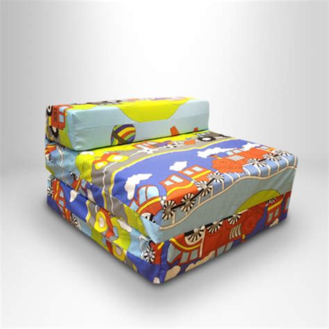 childrens foam sofa bed kids character foam fold out sleep over guest single futon