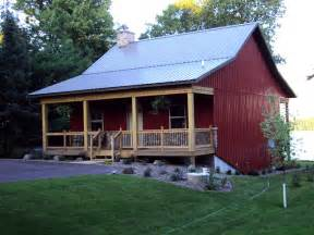 metal barn homes cosy metal barn w porch fireplace hq