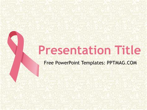 Free Breast Cancer Powerpoint Template Pptmag Cancer Powerpoint Templates Free
