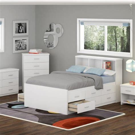 Bookcases Bed Sets And Bookcase Headboard On Pinterest White Ikea Bedroom Furniture