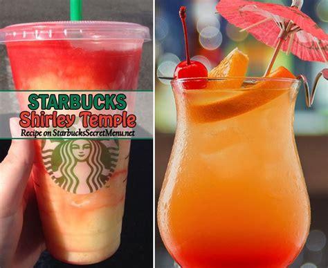 secret starbucks drink starbucks shirley temple starbucks secret menu