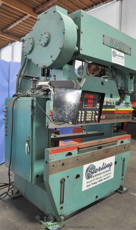 wysong cnc press brake sterling machinery