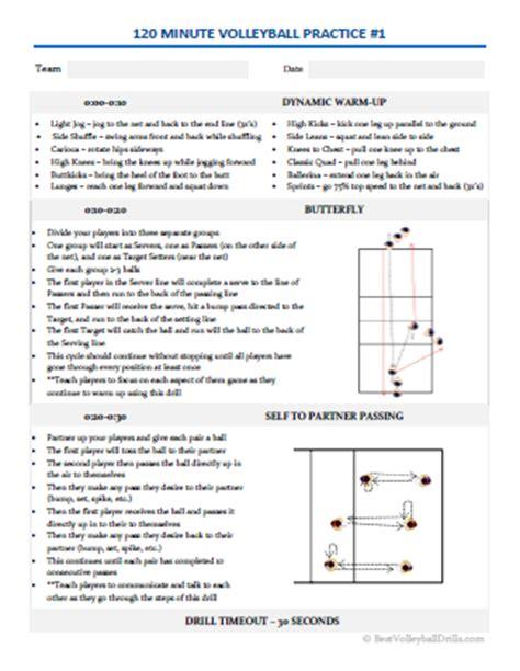 Galerry printable practice plan