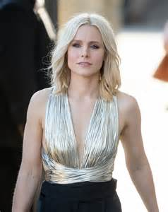 kristen bell kristen bell looks like a disco queen in this metallic outfit