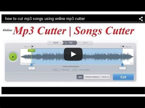 download mp3 from youtube and cut how to cut mp3 songs using online mp3 cutter youtube
