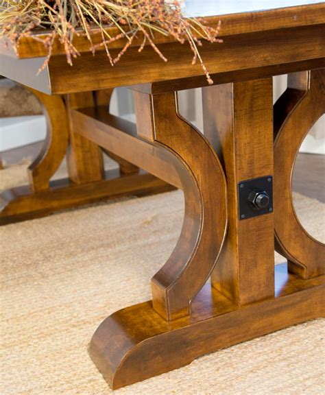 trestle base dining table barstow dining table amish direct furniture