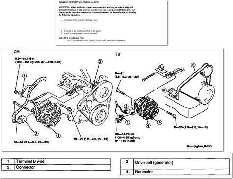 2000 mazda protege alternator wiring diagram wiring