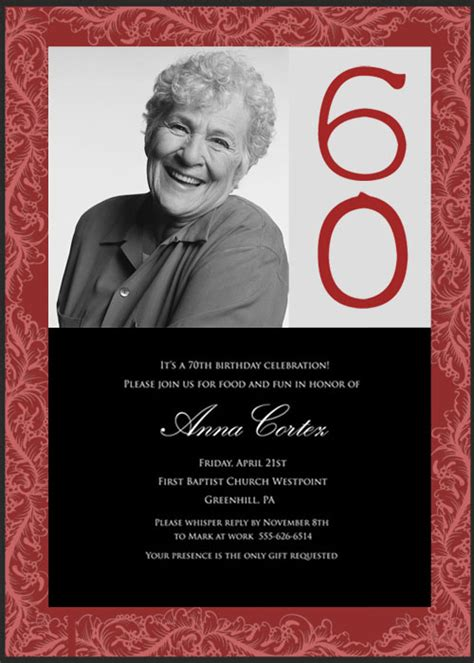 wording for 60th birthday invitations 60th birthday invitation wording ideas new ideas