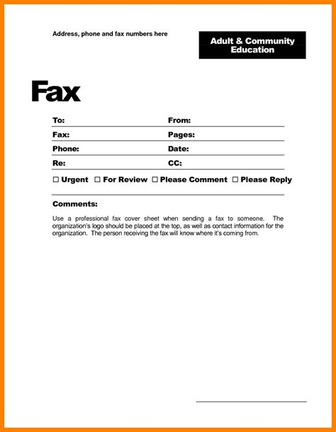 Cover Letter Template Blank 7 Fax Cover Sheet Exle Word Teller Resume