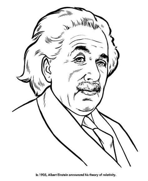 albert einstein az coloring pages