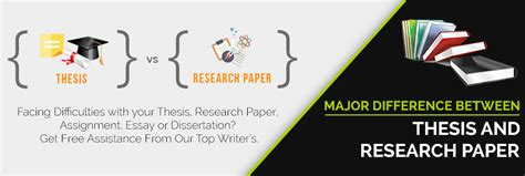 dissertation thesis difference how to differentiate between thesis and research paper