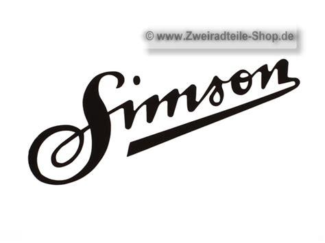 Schriftzug Aufkleber Shop by Aufkleber Schriftzug Simson Schwarz 20cm Mz Und Simson