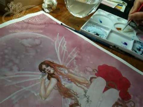 painting skin tones  watercolor fairy art painting