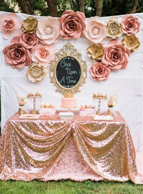 rose gold wedding backdrop flower pink gold birthday