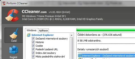 ccleaner xp sp3 ccleaner ke stažen 237 zdarma
