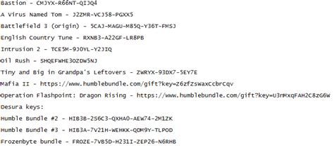 Steam Keys Giveaway - various keys giveaway steam origin desura humble bundle pcmasterrace