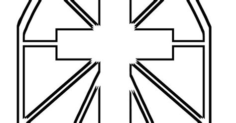 stained glass cross coloring page cross my heart