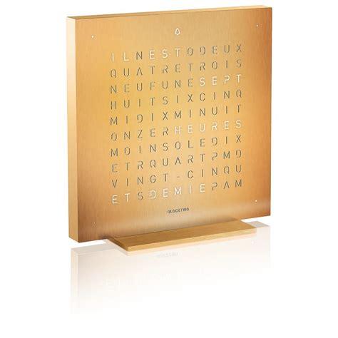 Biegert Funk by Reloj Despertador Qlocktwo Touch Golden Legend Qlocktwo