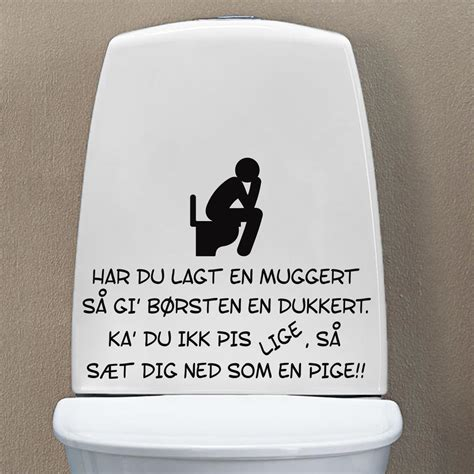 bathroom joke toilet joke wallsticker fra 139 kr