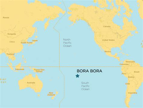 Bora Bora World Map bora bora map