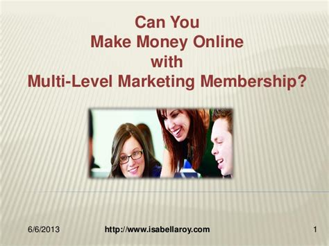 Can You Really Make Money Online - can you really make money with online mlm memberships