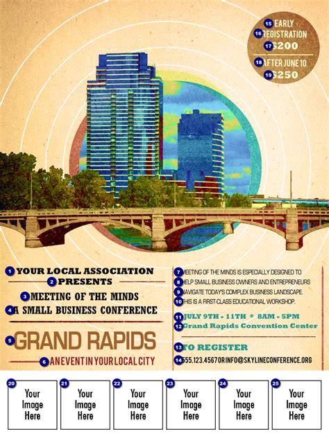 event design grand rapids grand rapids logo flyer ticket printing