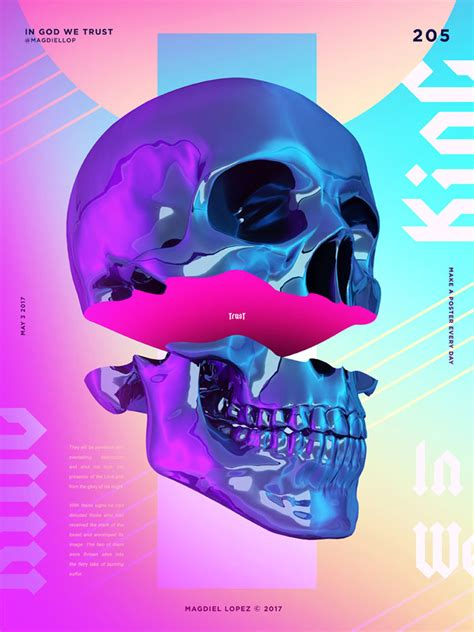 design digital poster a poster every day by magdiel lopez