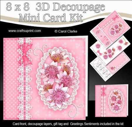 3d Decoupage Kits - 8x8 floral lace a touch of elegance mini kit 3d decoupage