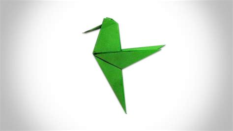 Origami Hummingbird Step By Step - origami hummingbird how to make a paper hummingbird