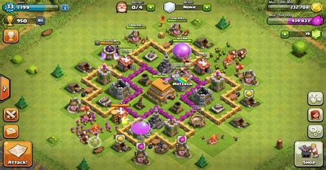 layout coc th 6 yang bagus coc th lvl 6 war base myideasbedroom com