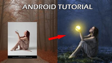 tutorial edit picsart indonesia cara edit foto magic light di android photo manipulation