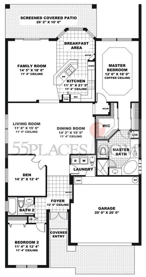 vizcaya floor plan andalusia floorplan 2078 sq ft vizcaya 55places