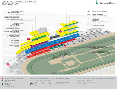 kentucky derby seating section 111 churchill downs louisville ky seating chart