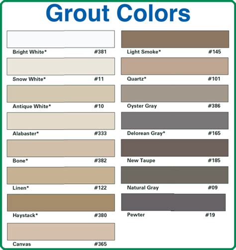 how to color grout pin grout color chart on