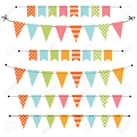 Bunting Clipart Celebration Banner Pencil And In Color Bunting Clipart Celebration Banner Birthday Banner Template Photoshop