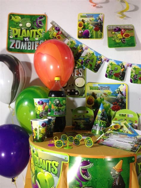 Plants Vs Zombies Birthday Decorations by Plants Vs Zombies Happy Birthday Pack Supplies Free