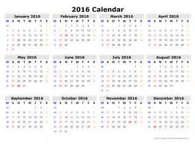 Printable calendar 2016 yearly calendar template when is calendar